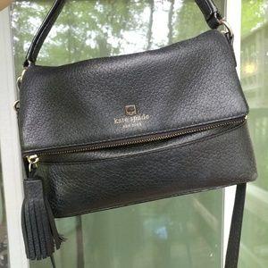 Black leather Kate Spade crossbody